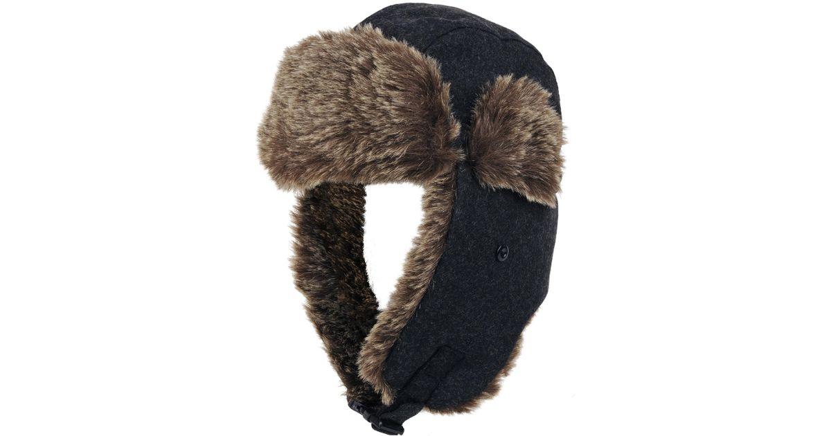 8afa3f8498734 Lyst - Wilsons Leather Wool Trapper W  Faux-fur for Men