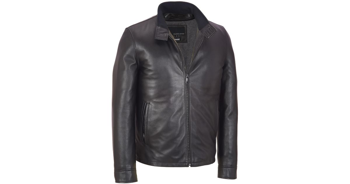 95a6c52cb4e5dc Lyst - Wilsons Leather Big   Tall Contemporary Leather Jacket W  Tab Collar    Thinsulate Lining in Black for Men