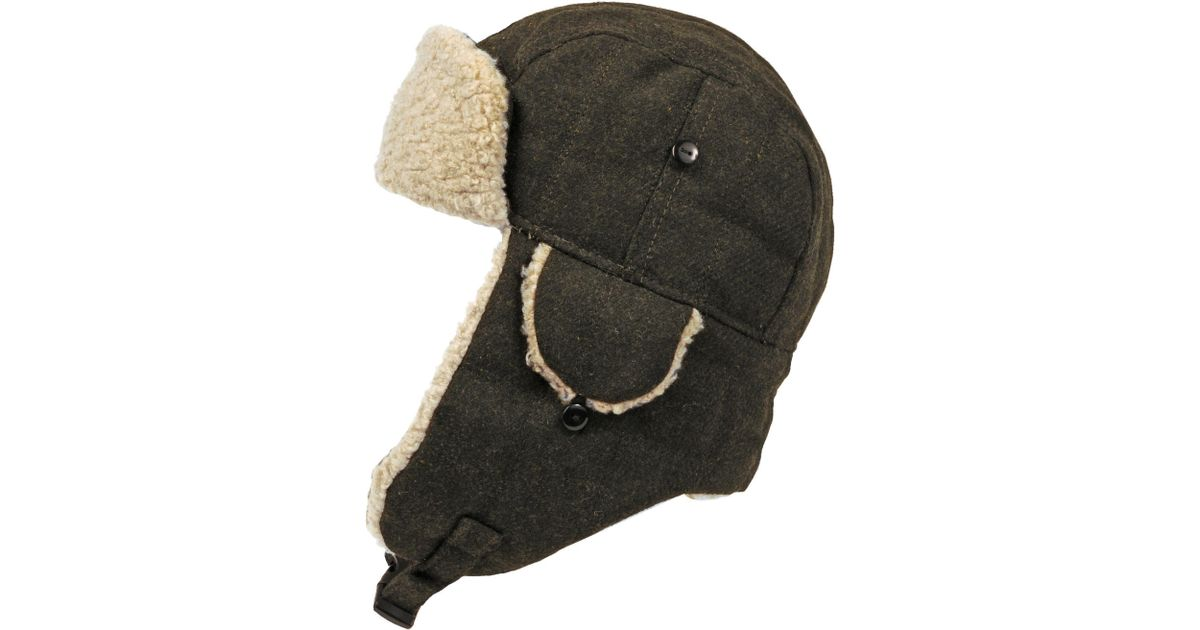 b69c6f697ae47 Wilsons Leather Quilted Trapper Hat W  Faux-sherpa in Green for Men - Lyst