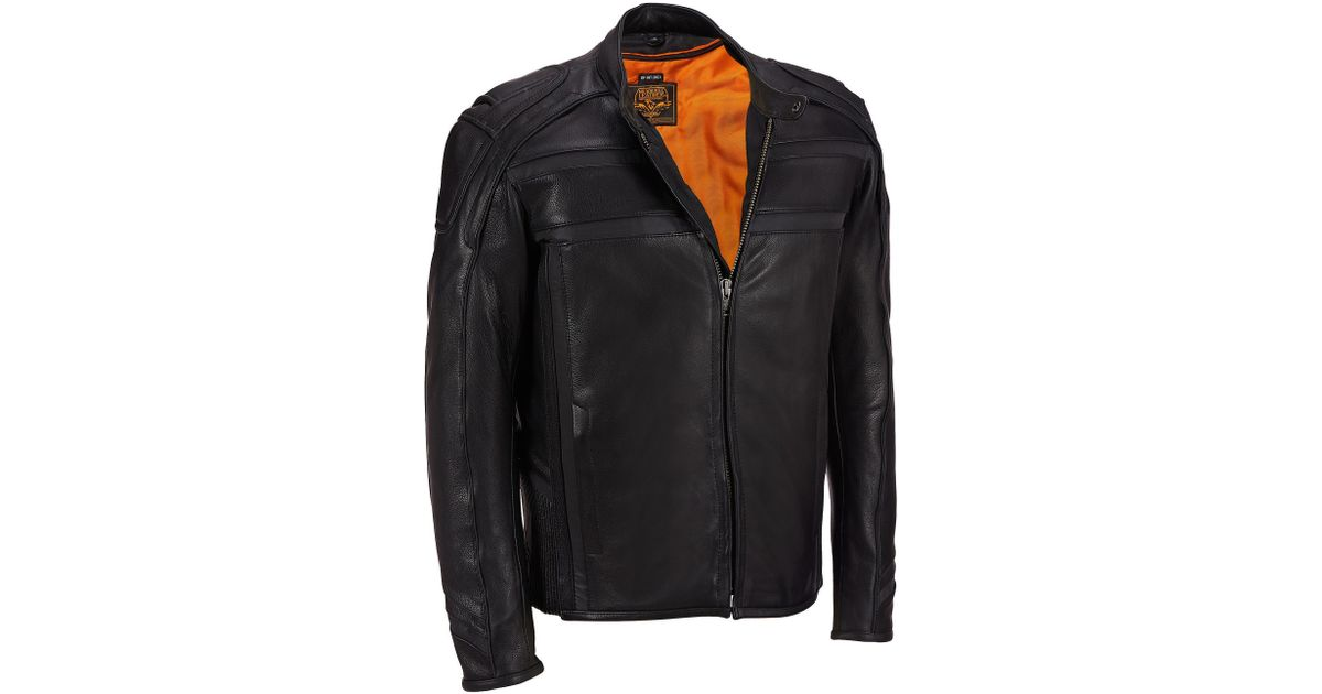 6a4e260980287f Wilsons Leather Big   Tall Milwaukee Leather Tab Collar Leather Jacket W   Zip-out Liner in Black for Men - Lyst