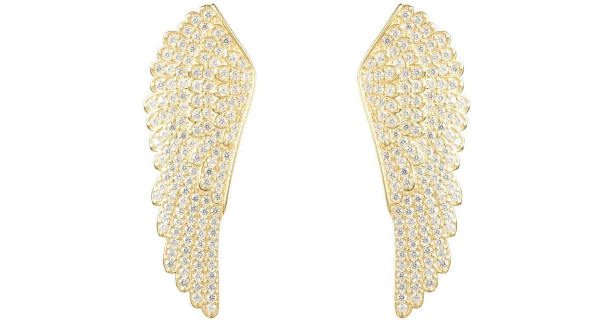 9b3b9f9e6316b9 Lyst - LÁTELITA London Large Angel Wing Earring Gold in Metallic