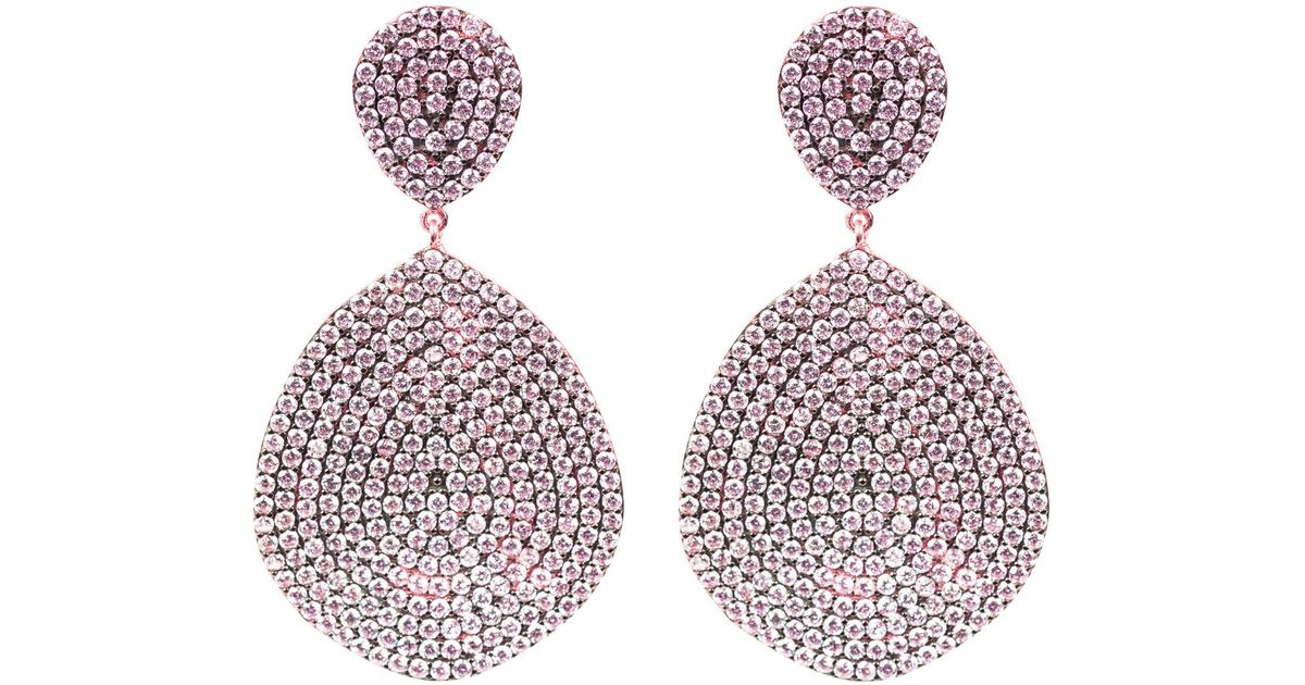 Latelita London Monte Carlo Earring Rose Gold Sapphire Zircona N278pzpd