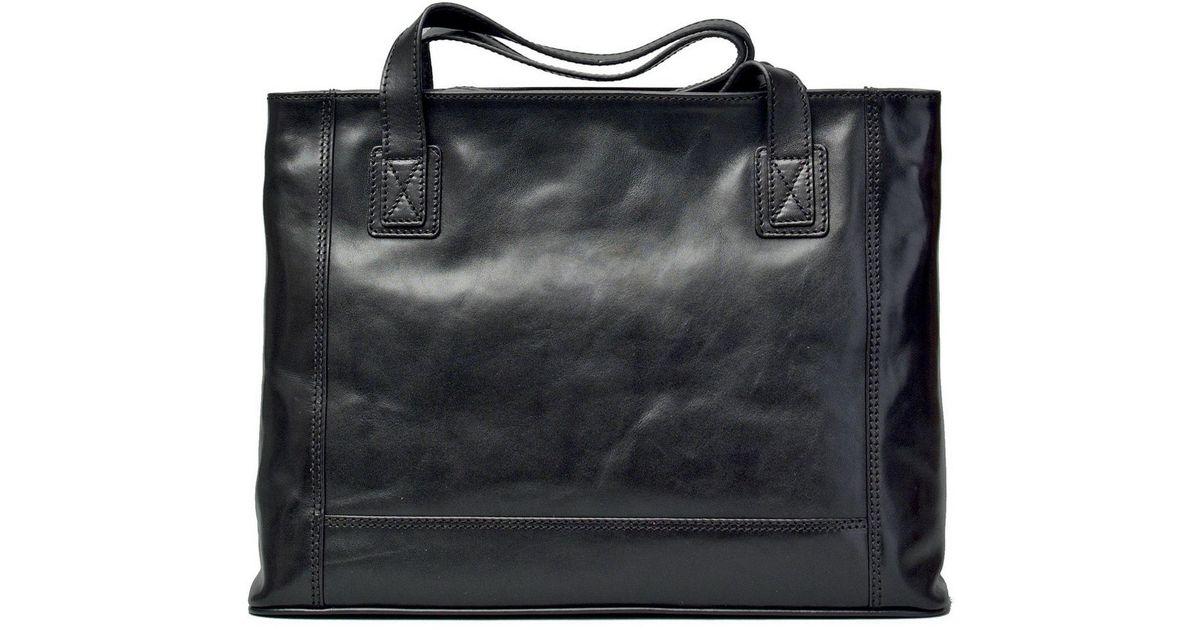 Lyst Maxwell Scott Bags Luxury Italian Leather Women S Per Handbag Athenea Night Black In