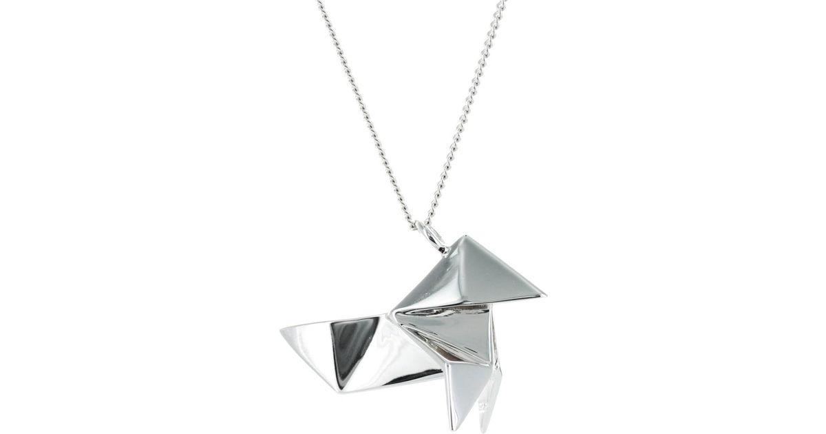Origami Jewellery Sterling Silver Gold Plated Cuckoo Necklace djnDtcjBG
