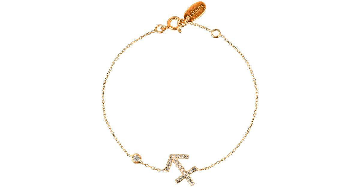 Latelita London Sagittarius Zodiac Bracelet Rose Gold x4UpB3
