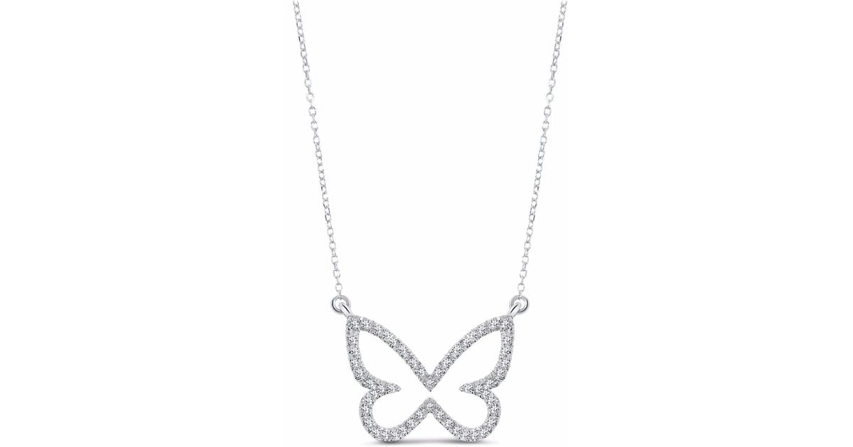 Sian Bostwick Jewellery Butterfly Twisting Vine Necklace - 15 Chain 1nuyG9