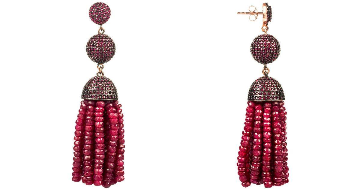 Latelita London Tassel Ball Necklace Citrine 5Tb8L5bH