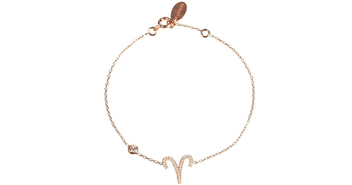 Latelita London Aries Zodiac Bracelet Rose Gold SU6KElJJ7