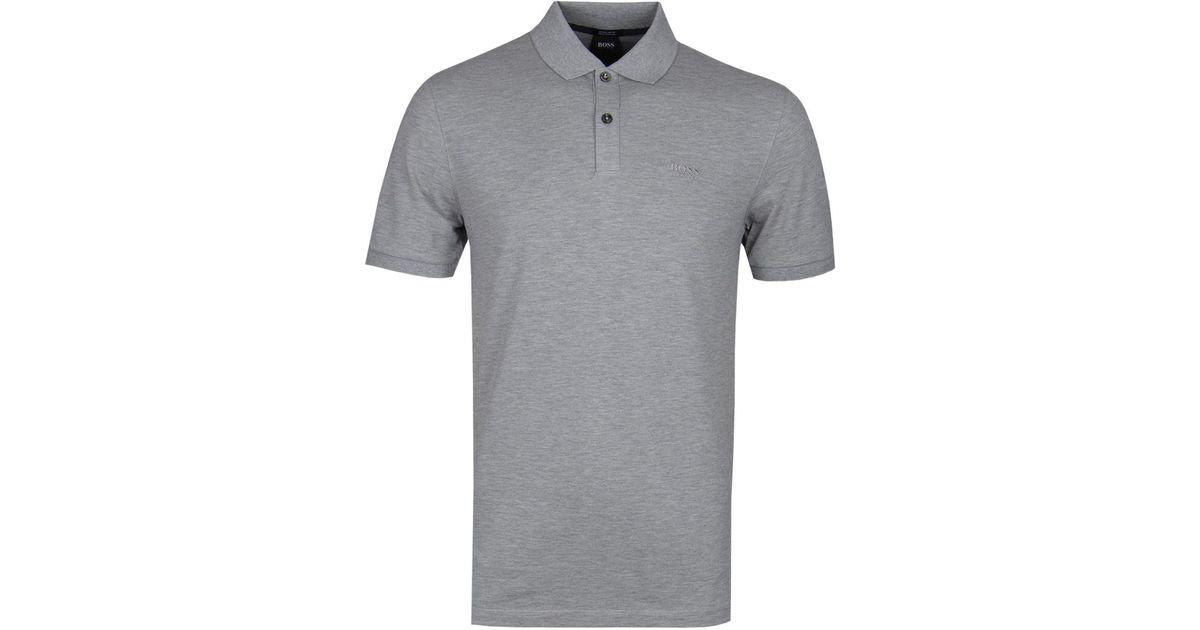 7a02fb70 BOSS by Hugo Boss Boss Pallas Light Grey Polo Shirt in Gray for Men - Lyst
