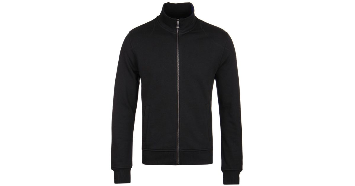 5264b77d25e6 Lyst - Belstaff Staplefield Black Funnel Neck Zip Through Sweatshirt in  Black for Men