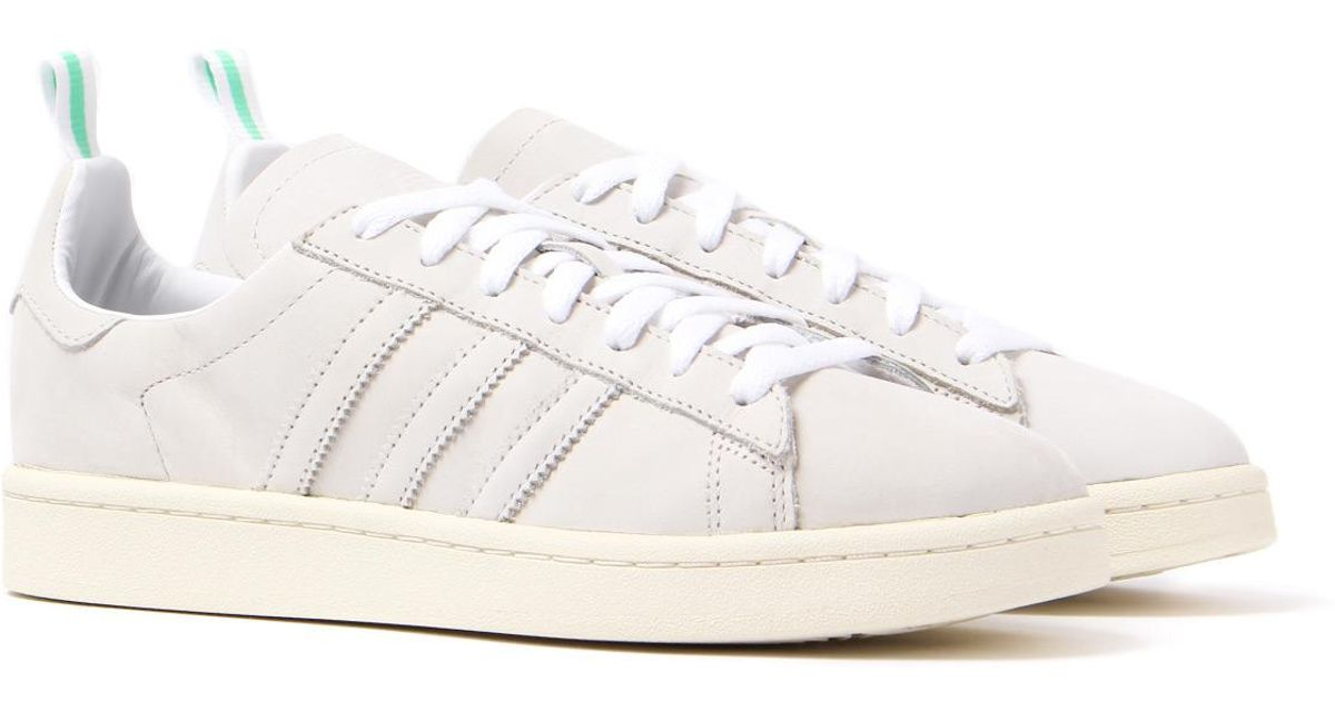 9565f5d77aa507 Lyst - adidas Originals Campus Vintage White Suede Trainers in White for Men