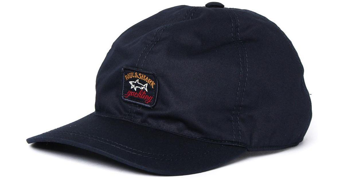 Paul   Shark Navy 6 Panel Baseball Cap in Blue for Men - Lyst b35e932535c9