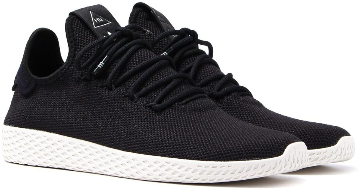 f404c54df Lyst - adidas Originals X Pharrell Williams Tennis Hu Black Trainers in  Black for Men