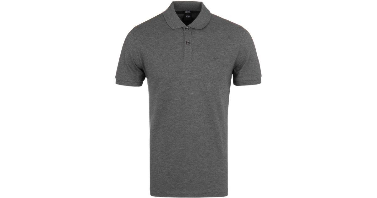 7423e8c7 BOSS Pallas Charcoal Grey Pima Cotton Short Sleeve Polo Shirt in Gray for  Men - Lyst