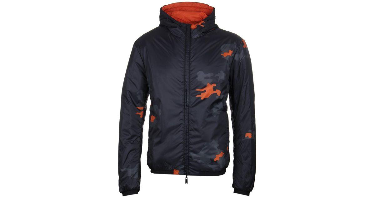 1482b9978 Emporio Armani Reversible Camo Black Blouson Jacket in Black for Men - Lyst