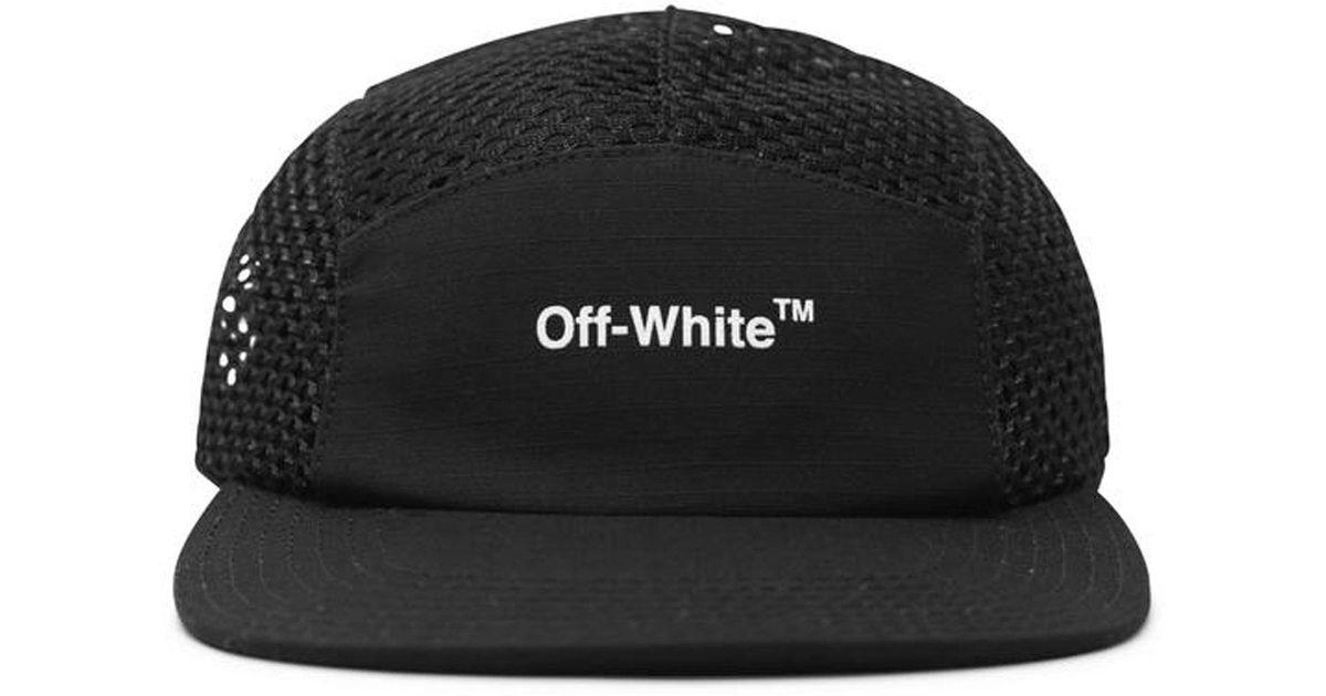 48090dfe9fc Lyst - Off-White c o Virgil Abloh Mesh 5 Panel Cap in Black for Men