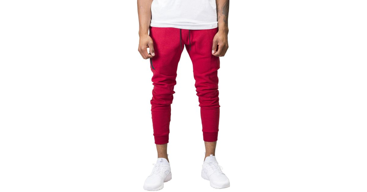 399c96ee Nike Tech Fleece Jogging Pants in Red for Men - Lyst