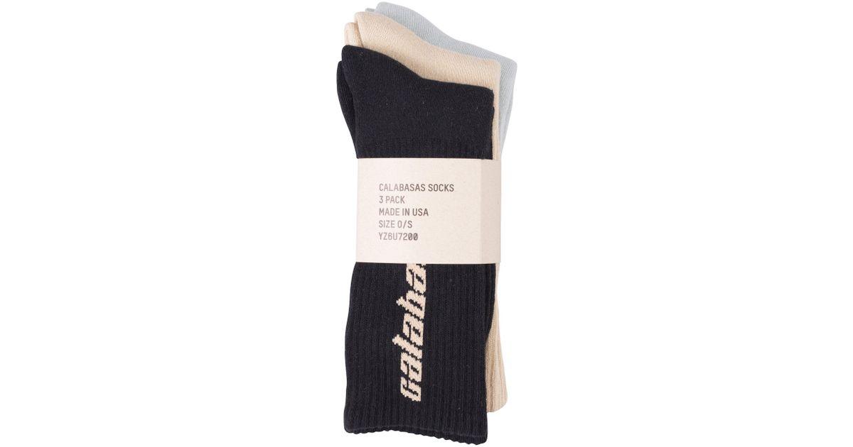 4b6447d49 Lyst - Yeezy  calabasas  Socks (3 Pack) for Men