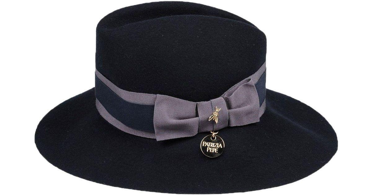 Lyst - Patrizia Pepe Hat in Blue 182187d9a06