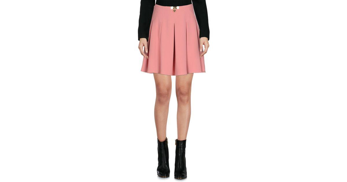 d92f2935f29164 Elisabetta Franchi Mini Skirt in Pink - Lyst