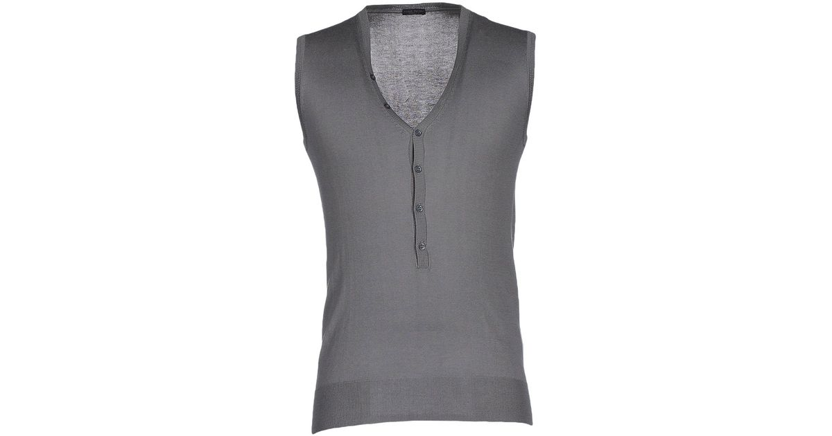 6860e74d540c3 Lyst - Paolo Pecora Sweater in Gray for Men