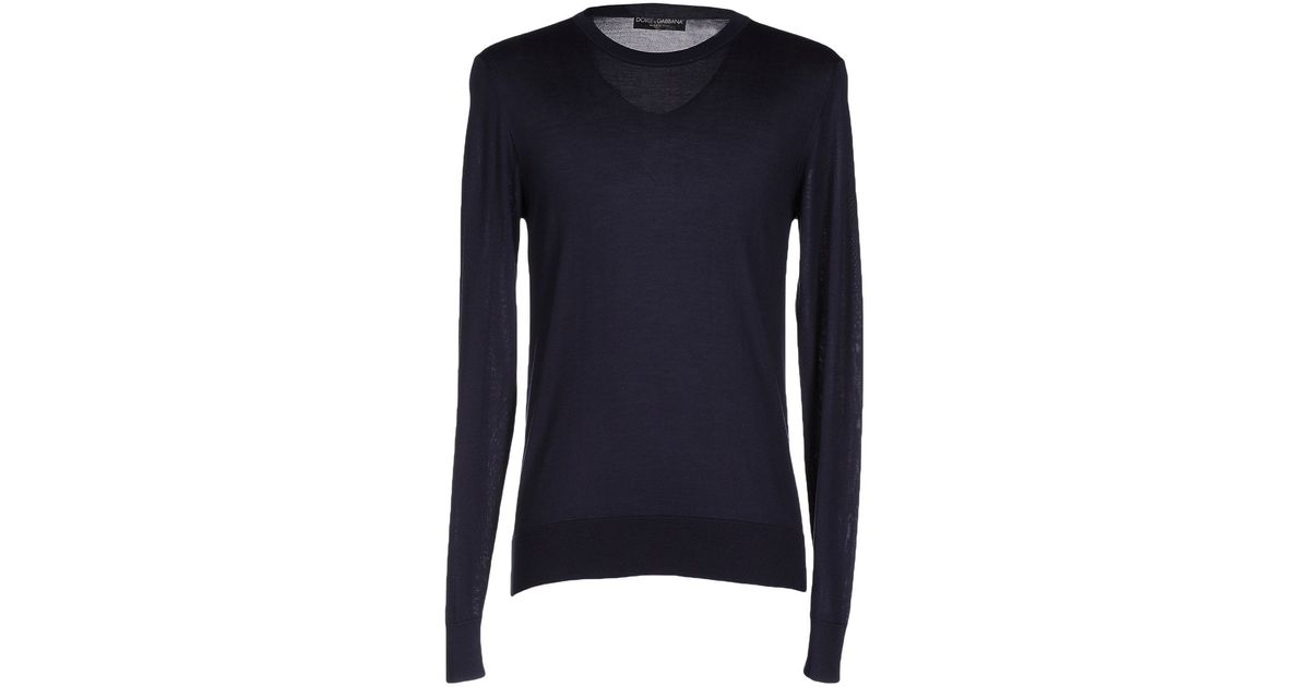 Dolce gabbana sweater in blue for men lyst for 20 34 35 dress shirts