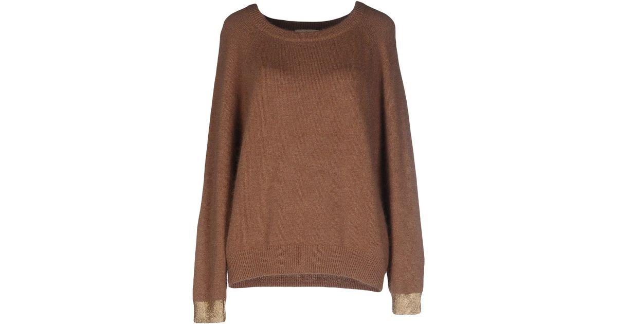 lyst essentiel sweater in brown. Black Bedroom Furniture Sets. Home Design Ideas