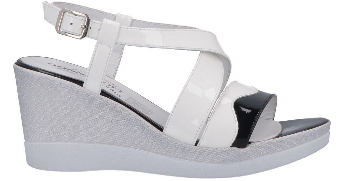 Sandalias Donna White Soft De Color vm0wOyN8n