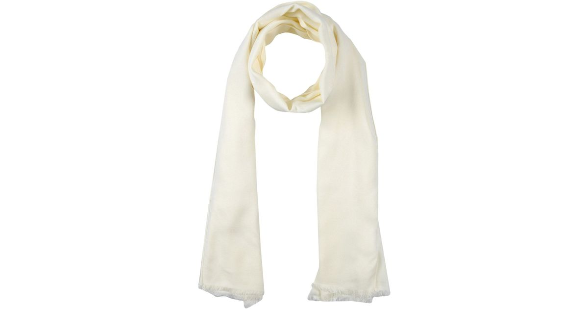 moschino oblong scarf in white for lyst