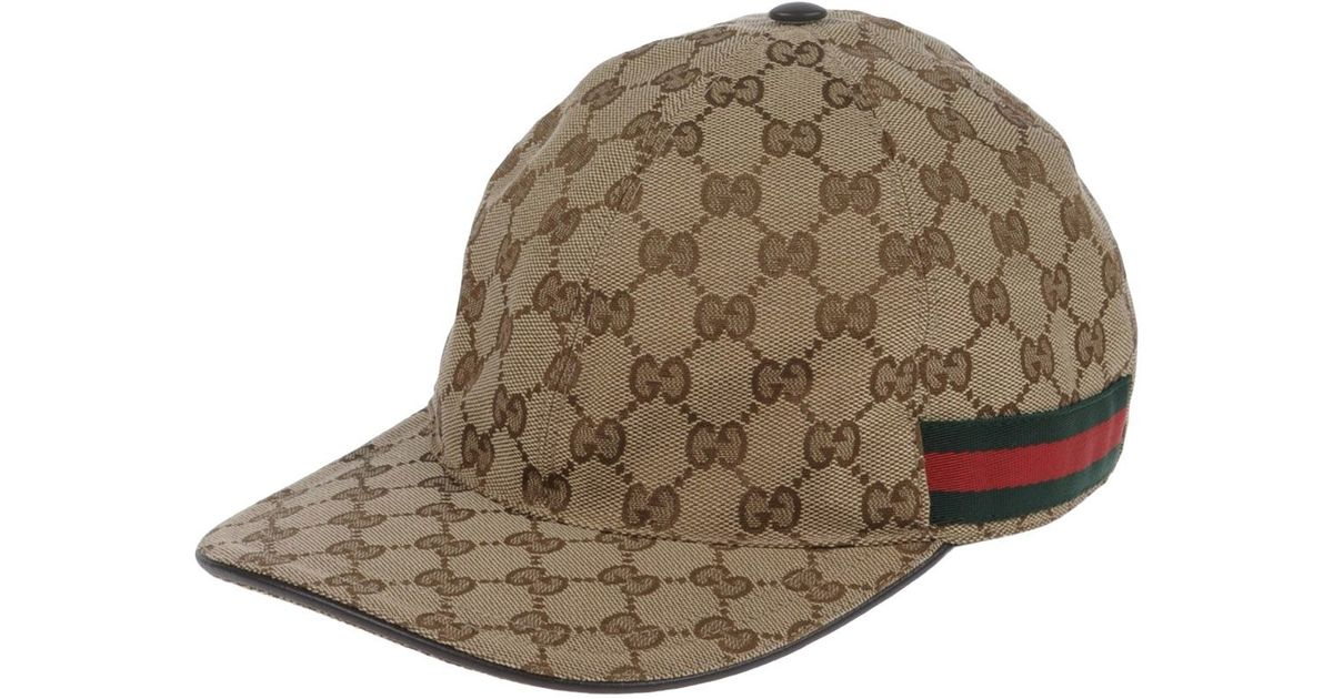 6f25dc0376d Lyst - Gucci Hat in Brown for Men