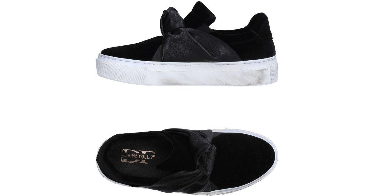 Low Sneakers Lyst Topsamp; Follie Black Divine m8Ov0wyNn