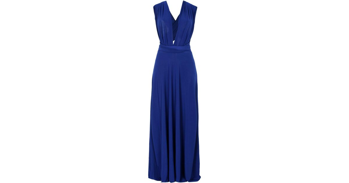 65f3d2d20a Lyst - Von Vonni Long Dress in Blue