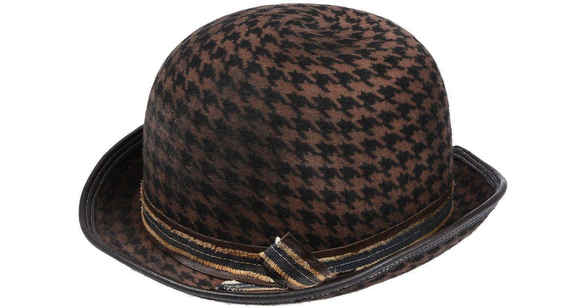 Lyst - Move Officine Del Cappello Hat in Brown 83040531486f