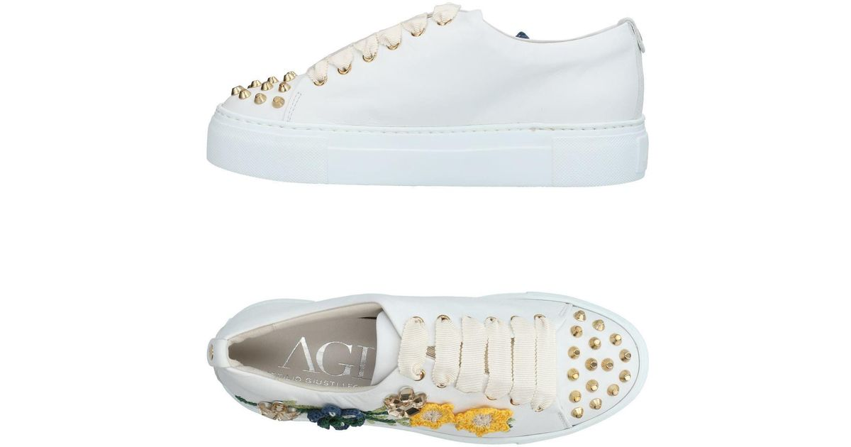 AGL Leather Low-Top Sneakers cheap clearance best perfect cheap online IKIKnTgR