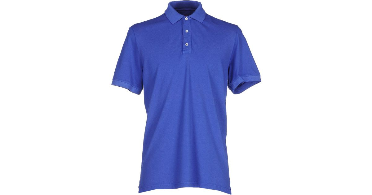 808c58d7 Lyst - Isaia Polo Shirt in Purple for Men
