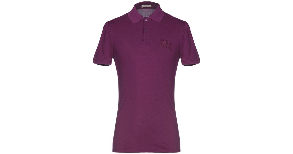 7f891643777 Lyst - Burberry Polo Shirt in Purple for Men