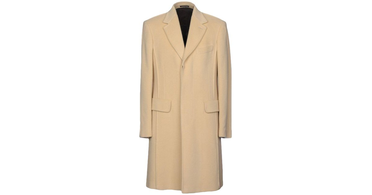 03d789a6b7725 Lyst - Paul Smith Coat in Natural for Men