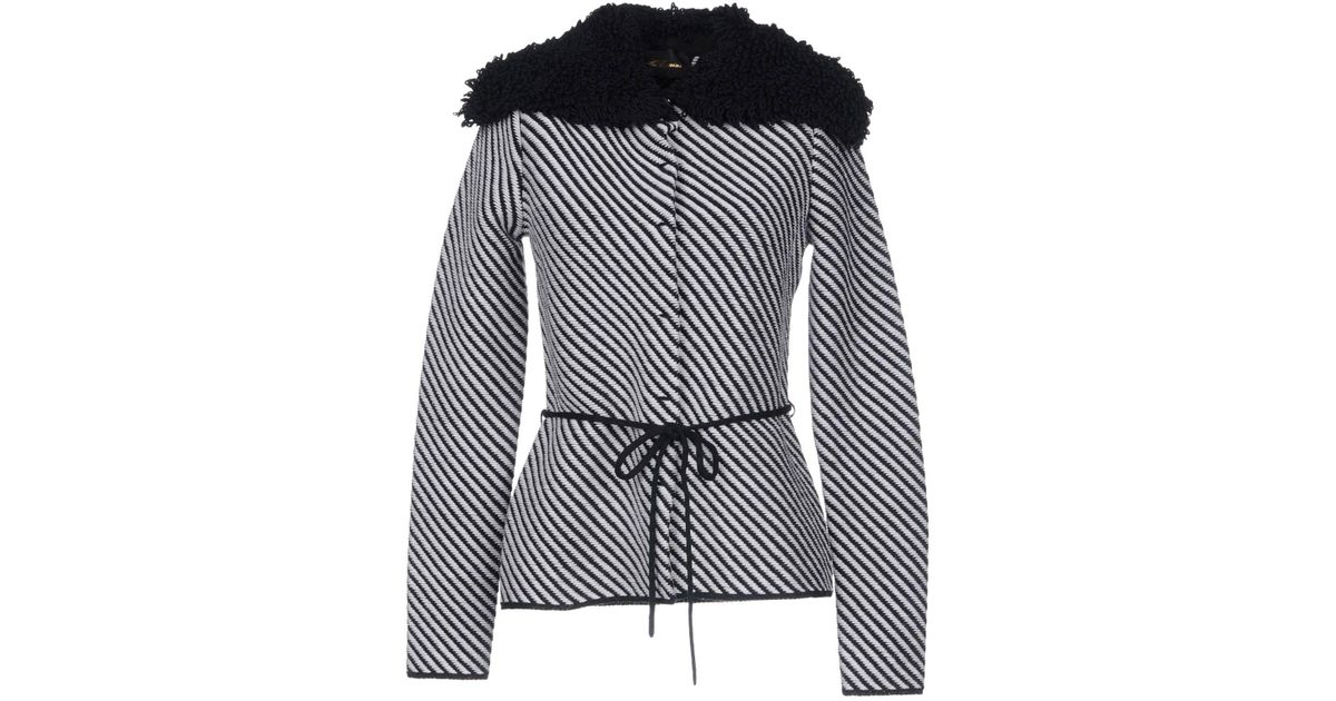 20338840f703a Les Copains Cardigan in Black - Lyst