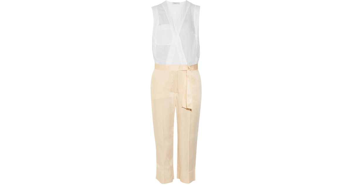 762ac1e6be0 Lyst - Sandro Jumpsuit in White