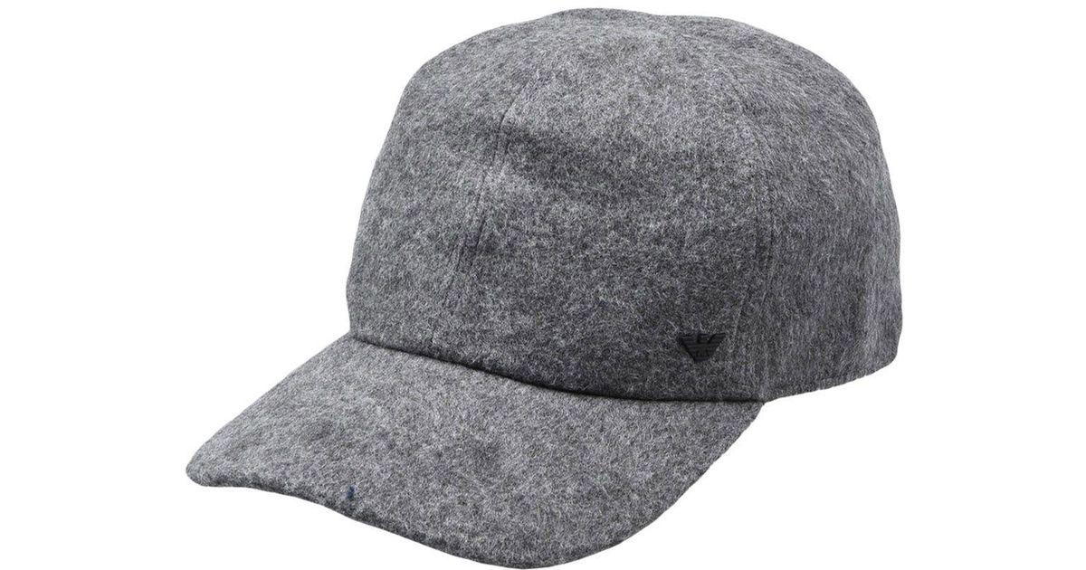Emporio Armani Hat in Gray for Men - Lyst 4c7c6158460