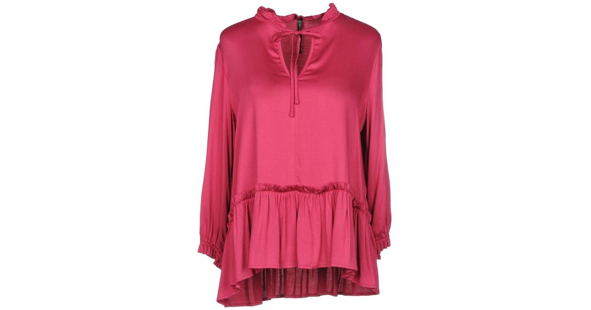 9c603ceddda4c Manila Grace Blouse in Pink - Lyst