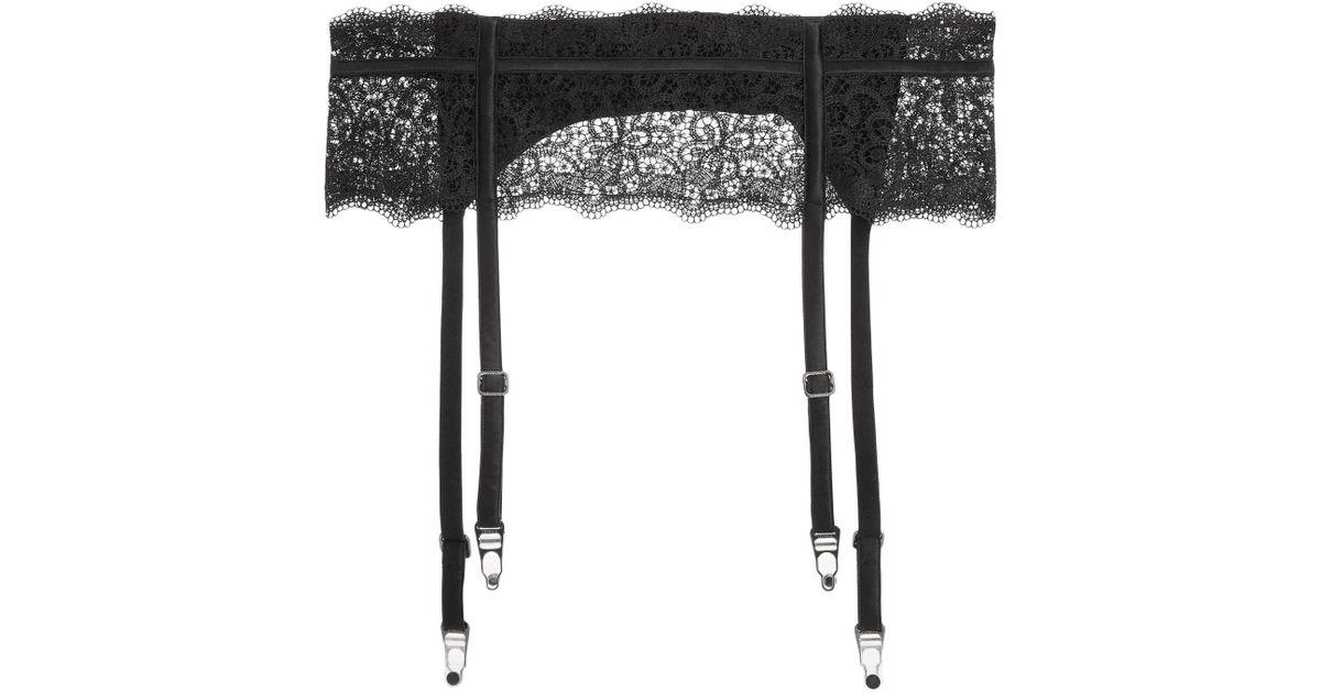6af880f952481 La Perla Suspender in Black - Lyst
