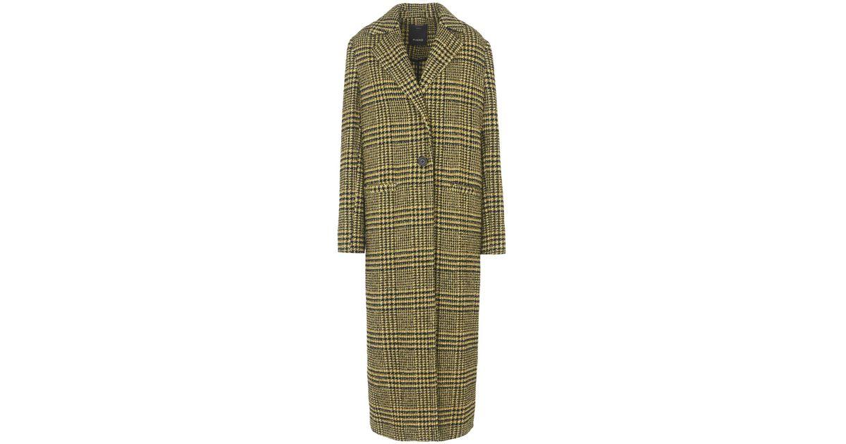 Lyst Vert Manteau en Pinko long coloris rr6WU