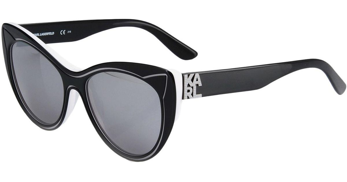 Karl Noir Soleil Lunettes Coloris Lyst De Lagerfeld En A53qS4cRjL