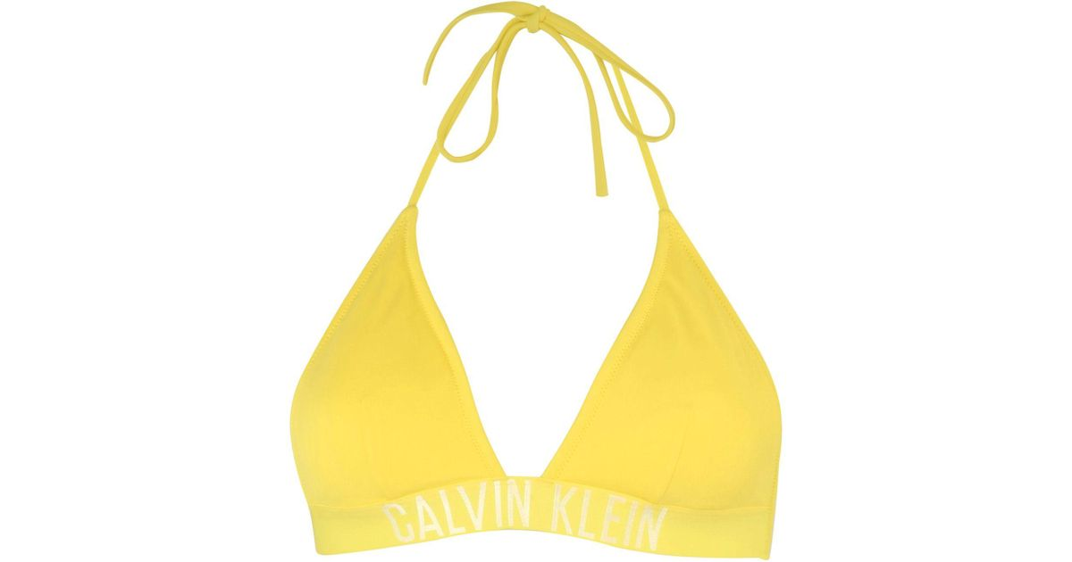 Yellow Klein Plage Calvin Haut De En Maillot Coloris ChQrtxsdB