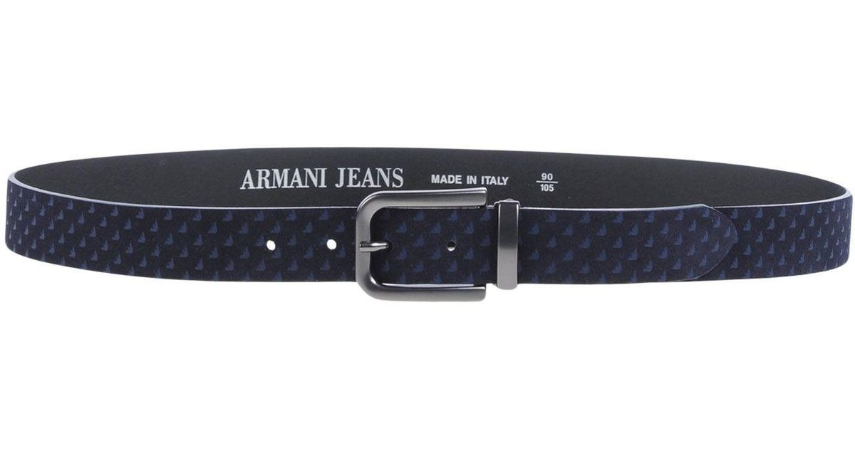 865c57e9120ea Lyst - Armani Jeans Belt in Blue for Men