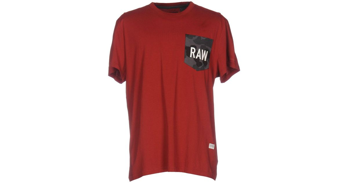 860ac81e4a G-Star Raw T-shirt in Red for Men - Lyst