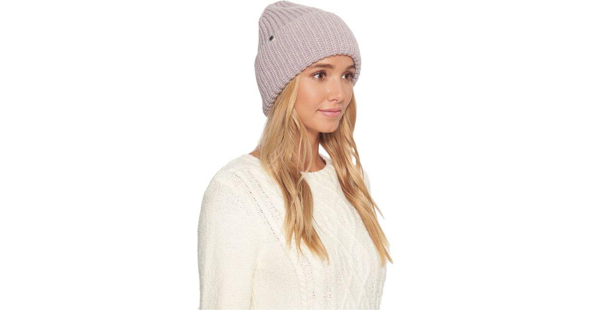 f7001a3ab3915 UGG Cardi Stitch Oversized Cuff Hat - Lyst