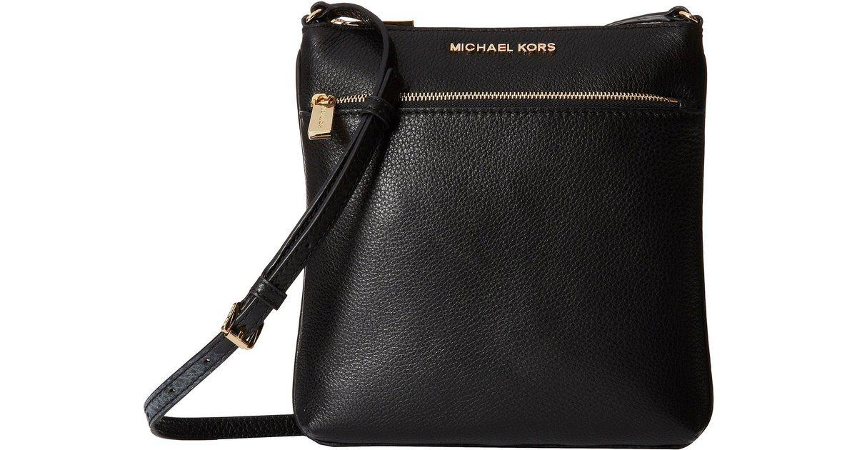 ea1d6b770253 Lyst - MICHAEL Michael Kors Riley Small Flat Crossbody (black) Cross Body  Handbags in Black