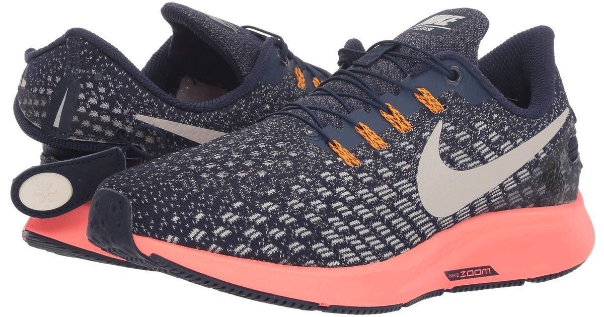 a9ccc2d39dc7 Lyst - Nike Air Zoom Pegasus 35 Flyease (black white gunsmoke oil Grey)  Women s Running Shoes in Blue - Save 40%